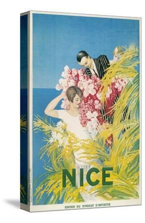 Travel Poster for Nice, France--Stretched Canvas Print
