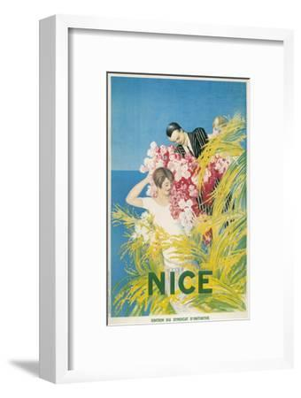 Travel Poster for Nice, France--Framed Art Print