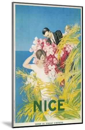 Travel Poster for Nice, France--Mounted Art Print
