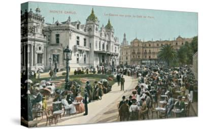 Vintage Monte Carlo Scene--Stretched Canvas Print
