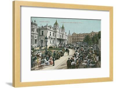 Vintage Monte Carlo Scene--Framed Art Print