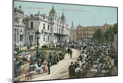 Vintage Monte Carlo Scene--Mounted Art Print