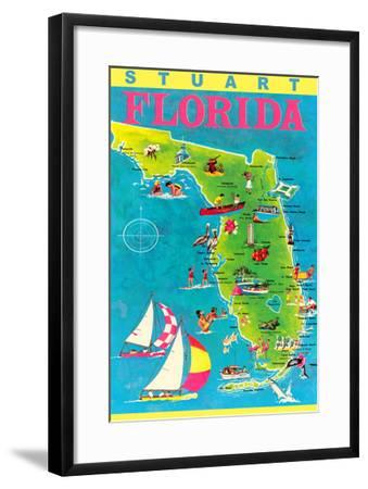 Stuart Florida Map.Stuart Florida Map With Attractions Art Print By Art Com