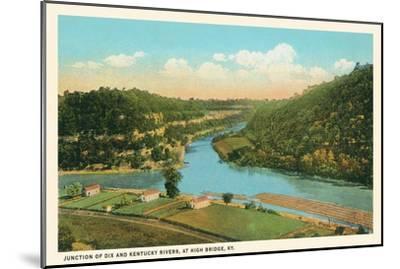 River Junction, High Bridge, Kentucky--Mounted Art Print