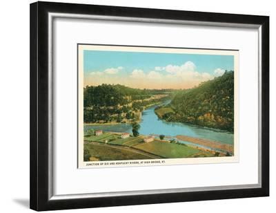 River Junction, High Bridge, Kentucky--Framed Art Print