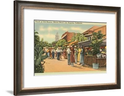 Scene on Olvera Street, Los Angeles, California--Framed Art Print