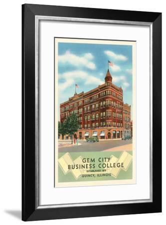 Gem City Business College, Quincy, Illinois--Framed Art Print