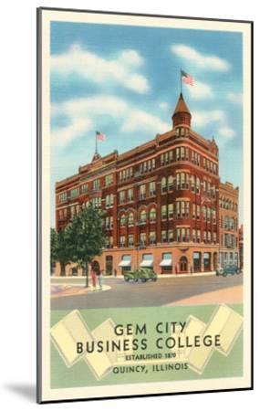 Gem City Business College, Quincy, Illinois--Mounted Art Print