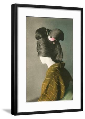Elaborate Japanese Hairstyle--Framed Art Print