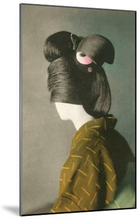 Elaborate Japanese Hairstyle--Mounted Art Print
