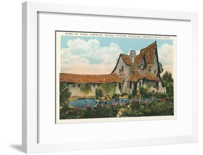 Home of Ward Lascelle, Movie Producer, Beverly Hills, California--Framed Art Print