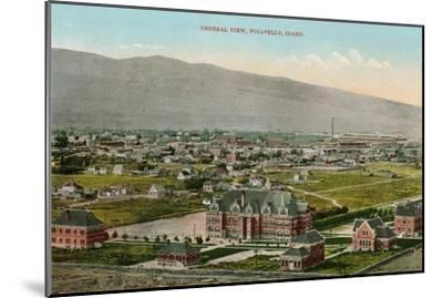 View over Pocatello, Idaho--Mounted Art Print