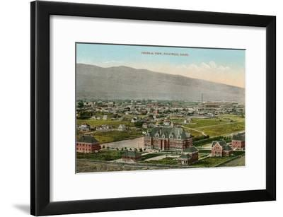 View over Pocatello, Idaho--Framed Art Print