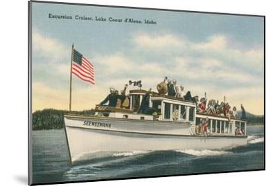 Excursion Cruiser, Lake Coeur d'Alene, Idaho--Mounted Art Print
