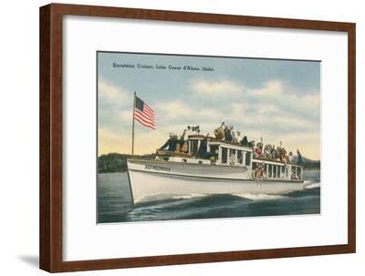 Excursion Cruiser, Lake Coeur d'Alene, Idaho--Framed Art Print
