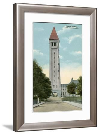 Water Tower, Ft. Sheridan, Illinois--Framed Art Print