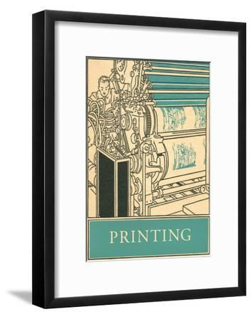 Printing Poster--Framed Art Print