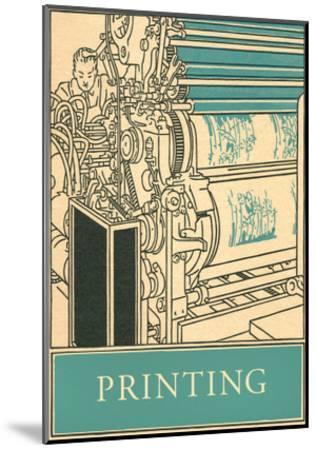 Printing Poster--Mounted Art Print