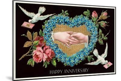 Old Fashioned Happy Anniversary--Mounted Art Print