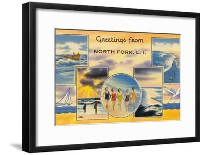 Greetngs from North Fork, Long Island--Framed Art Print