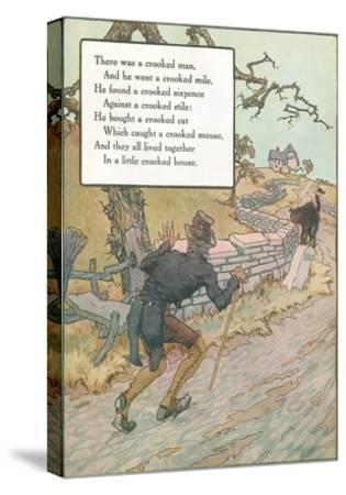 Mother Goose Rhyme, Crooked Man--Stretched Canvas Print