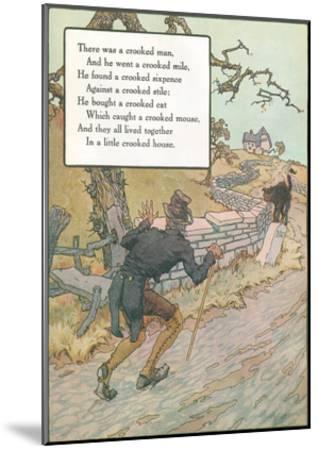Mother Goose Rhyme, Crooked Man--Mounted Art Print