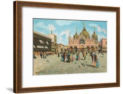 St. Mark's Basilica, Venice, Italy--Framed Art Print