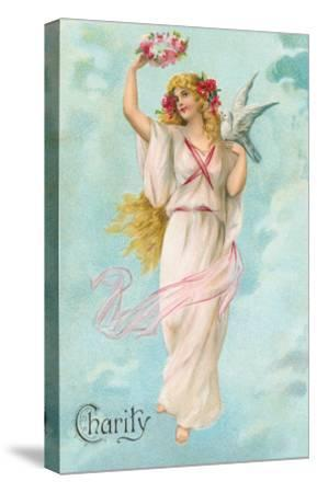 Charity as Maiden in Greek Garb--Stretched Canvas Print
