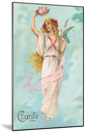 Charity as Maiden in Greek Garb--Mounted Art Print