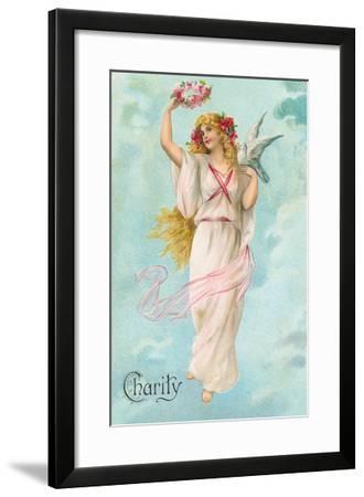 Charity as Maiden in Greek Garb--Framed Art Print