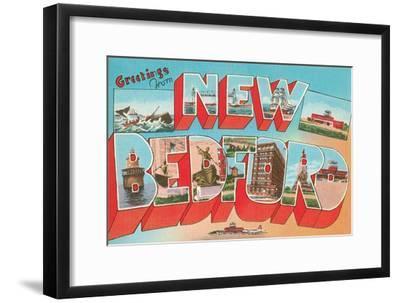 Greetings from New Bedford, Mass.--Framed Art Print