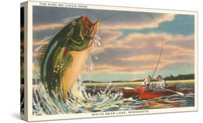 Gigantic Fish, White Bear Lake, Minnesota--Stretched Canvas Print