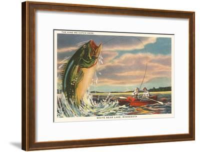 Gigantic Fish, White Bear Lake, Minnesota--Framed Art Print