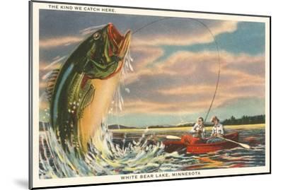 Gigantic Fish, White Bear Lake, Minnesota--Mounted Art Print
