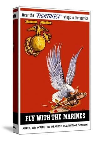 Marine Corps Recruiting Poster--Stretched Canvas Print