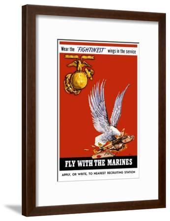 Marine Corps Recruiting Poster--Framed Art Print