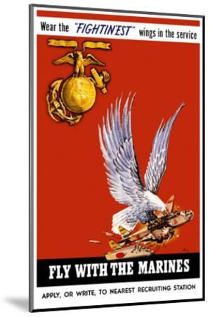 Marine Corps Recruiting Poster--Mounted Art Print