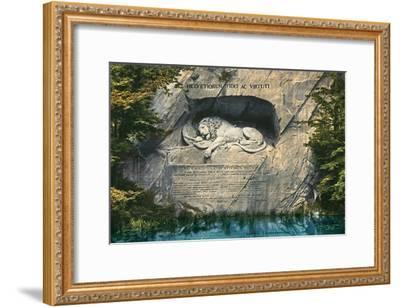 Lion Monument, Lucerne, Switzerland--Framed Art Print