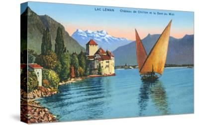 Chillon Castle, Lake Geneva, Switzerland--Stretched Canvas Print