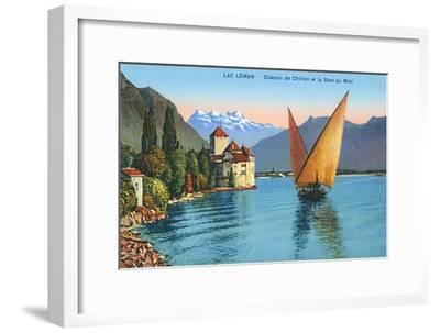 Chillon Castle, Lake Geneva, Switzerland--Framed Art Print