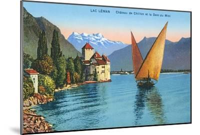 Chillon Castle, Lake Geneva, Switzerland--Mounted Art Print