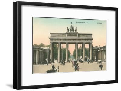 Brandenburg Gate, Berlin, Germany--Framed Art Print