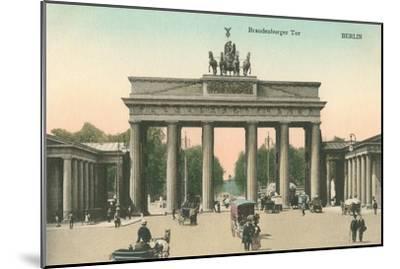 Brandenburg Gate, Berlin, Germany--Mounted Art Print