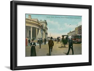 Early Downtown Brisbane, Queensland, Australia--Framed Art Print