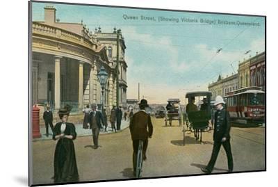 Early Downtown Brisbane, Queensland, Australia--Mounted Art Print