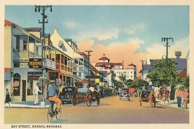 Bay Street, Nassau, Bahamas--Stretched Canvas Print
