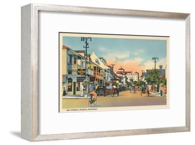 Bay Street, Nassau, Bahamas--Framed Art Print