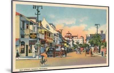 Bay Street, Nassau, Bahamas--Mounted Art Print