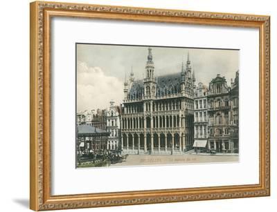 House of the King, Brussels, Belgium--Framed Art Print