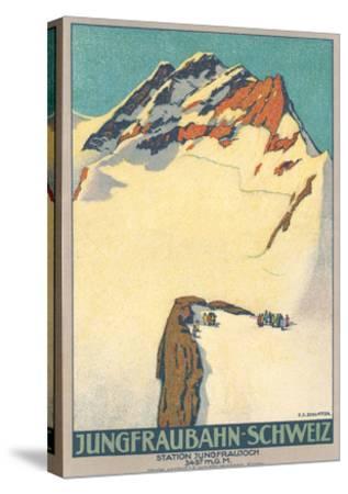 Jungfrau, Swiss Alps--Stretched Canvas Print